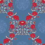 Floral seamless pattern, background with vintage style flowers a Royalty Free Stock Photos
