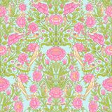 Floral seamless pattern, background with vintage style flowers   Royalty Free Stock Photo
