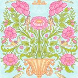 Floral seamless pattern, background with vintage style flowers   Royalty Free Stock Photography