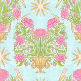 Floral seamless pattern, background with vintage style flowers  Stock Photography