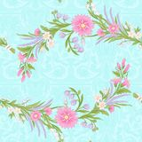 Floral seamless pattern, background with vintage style flowers Royalty Free Stock Image