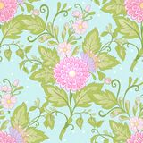 Floral seamless pattern, background with vintage style flowers Royalty Free Stock Images