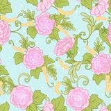 Floral seamless pattern, background with vintage style flowers Royalty Free Stock Photos