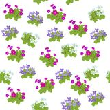 Floral seamless pattern background for Wallpaper. Royalty Free Stock Photos