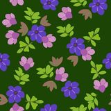 Floral seamless pattern background for Wallpaper. Royalty Free Stock Photo