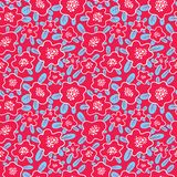 Floral Seamless Pattern. Background With Cute Abstract Flowers A Stock Images