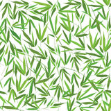Floral seamless pattern bamboo leaves. Bamboo frame with leaves decor.  illustration. Seamless flourish pattern. nature background Royalty Free Stock Image