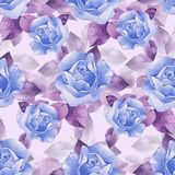 Floral seamless pattern with beautiful ro vector illustration