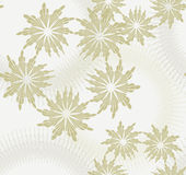 Floral  Seamless pattern with beige background. Royalty Free Stock Photography
