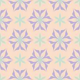 Floral seamless pattern. Beige background with violet and blue flower elements. For wallpapers, textile and fabrics Royalty Free Stock Photo