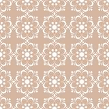 Floral seamless pattern. Beige brown abstract background Royalty Free Stock Photography