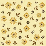Floral seamless pattern in beige and brown tints. Vector illustration. Stock Image