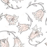 Floral seamless pattern with bell flowers Royalty Free Stock Photo