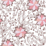 Floral seamless pattern with big  flowers Royalty Free Stock Photo