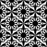 Floral seamless pattern black color Royalty Free Stock Images
