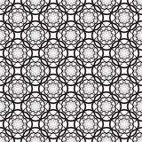Floral seamless pattern with  black flowers Stock Images