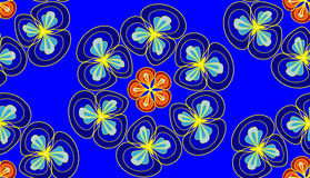 Floral seamless pattern in blue color. Simple floral seamless pattern in blue color Stock Photo