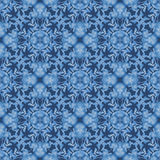 Floral seamless pattern with blue flowers texture background. Floral seamless pattern with blue flowers texture on dark blue background Royalty Free Stock Photo