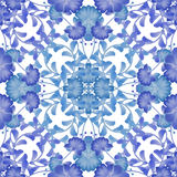 Floral seamless pattern with blue flowers texture background Stock Images