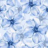 Floral seamless pattern with blue flowers 11 stock illustration