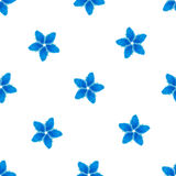 Floral seamless pattern, blue flowers on a white background Royalty Free Stock Photography