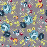 Floral seamless pattern with blue roses. Beautiful floral seamless pattern with blue roses vector illustration