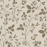 Floral seamless pattern. Branch with leaves ornamental background Stock Photography