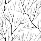 Floral seamless pattern. Branch without leaves tiled background. Royalty Free Stock Image