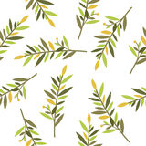 Floral seamless pattern with branches of laurel for textile print Stock Photos