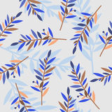 Floral seamless pattern with branches for textile print Stock Images