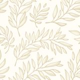 Floral seamless pattern with branches Royalty Free Stock Photo