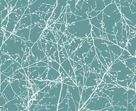 Floral seamless pattern of the branches. vector image royalty free stock photography