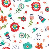 Floral seamless pattern with bright colors Stock Image