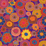 Floral seamless pattern with bright flowe royalty free illustration