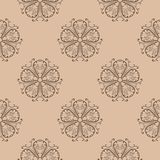 Floral seamless pattern. Brown abstract background. For wallpapers and fabrics. Vector illustration Royalty Free Stock Photos