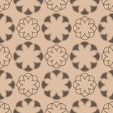 Floral seamless pattern. Brown abstract background. Vector illustration Stock Image
