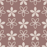 Floral seamless pattern. Brown abstract background. Vector illustration Royalty Free Stock Image