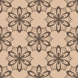 Floral seamless pattern. Brown abstract background. Vector illustration Stock Photos