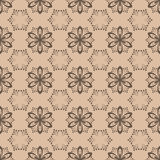 Floral seamless pattern. Brown abstract background. Vector illustration Stock Photo