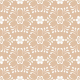 Floral seamless pattern. Brown abstract background. Vector illustration Stock Images