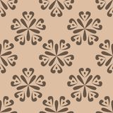Floral seamless pattern. Brown abstract background. For wallpapers and fabrics. Vector illustration Stock Photo