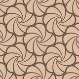 Floral seamless pattern. Brown beige wallpaper background Stock Photo