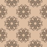 Floral seamless pattern. Brown beige wallpaper background Royalty Free Stock Photo