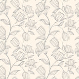 Floral seamless pattern. Can be used for wallpaper, website background, textile printing. Hand drawn endless vector illustration of flowers on light background vector illustration