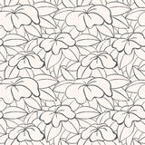 Floral seamless pattern. Can be used for wallpaper, website background, textile printing. Hand drawn endless vector illustration of flowers on light background royalty free illustration