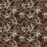 Floral seamless pattern. Can be used for wallpaper, website background, textile printing. Hand drawn endless vector illustration of flowers on light background Stock Images