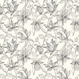 Floral seamless pattern. Can be used for wallpaper, website background, textile printing. Hand drawn endless vector illustration of flowers on light background Royalty Free Stock Photos