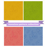 Floral seamless pattern collection Royalty Free Stock Photography