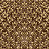 Floral Seamless  Pattern. Floral  colored ornament. Seamless abstract oriental fine pattern. Brown and golden colors Stock Photography