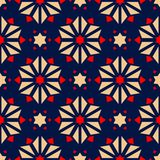 Floral seamless pattern. Colored red and blue background. For wallpapers, textile and fabrics Royalty Free Stock Photography
